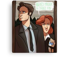 Mulder and Scully, FBI Canvas Print