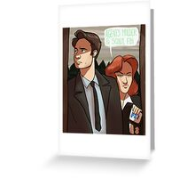 Mulder and Scully, FBI Greeting Card