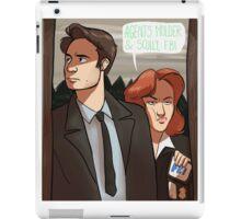 Mulder and Scully, FBI iPad Case/Skin