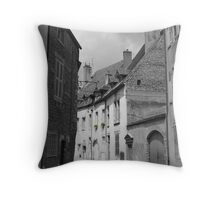 Village Streetscape, France Throw Pillow