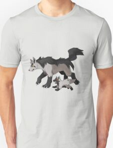 Mightyena and Poochyena T-Shirt