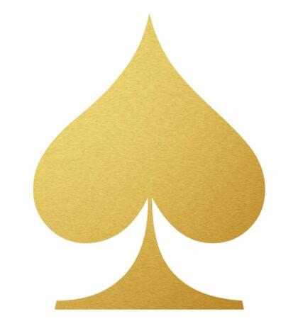 Golden Spade Sticker