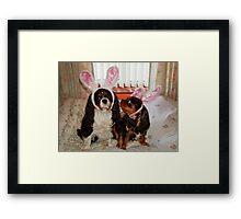 My Easter Bunnies !!! Framed Print