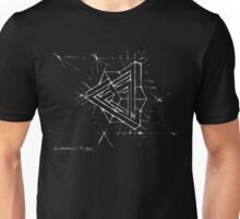 Impossible triangle in cube - white Unisex T-Shirt