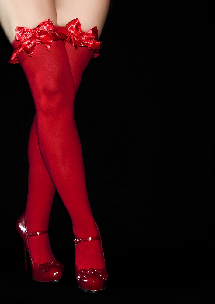 Red Stockings by Svetlana Sewell