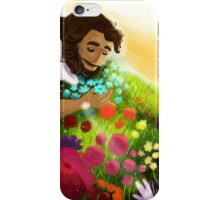 Easter Ressurection Day - Jesus in field of flowers iPhone Case/Skin