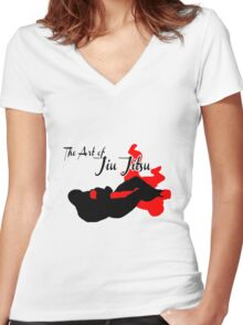 The Art of Jiu Jitsu Arm Bar  Women's Fitted V-Neck T-Shirt