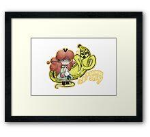 Kakylope & Banana Stand - Banana Split Framed Print