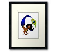 Tropical Peacock Mermaid Framed Print