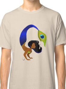 Tropical Peacock Mermaid Classic T-Shirt