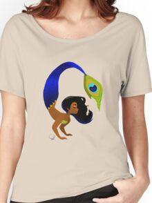 Tropical Peacock Mermaid Women's Relaxed Fit T-Shirt