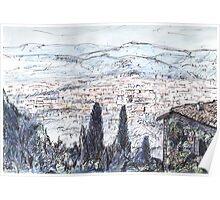 Florence From Fiesole Poster