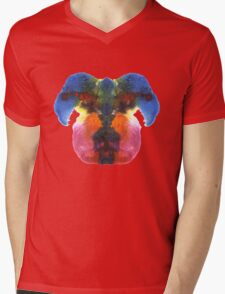 Dog head splat Mens V-Neck T-Shirt