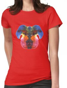 Dog head splat Womens Fitted T-Shirt