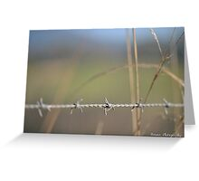 [Metal] Barbed wire Greeting Card