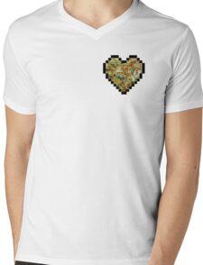 8-Bit Bud Heart Mens V-Neck T-Shirt