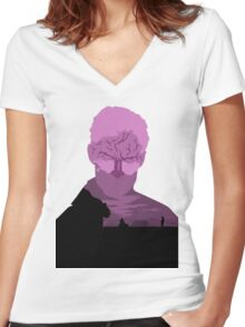 True Detective Women's Fitted V-Neck T-Shirt