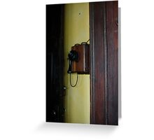 Old-fashioned telephone, Havana Greeting Card