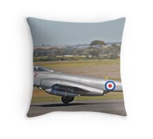 Gloster Meteor F.8  ready for take off. Throw Pillow
