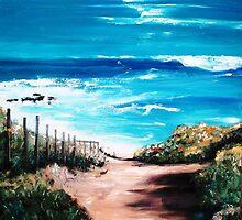 "Mornington Peninsula Beach by Belinda ""BillyLee"" NYE (Printmaker)"