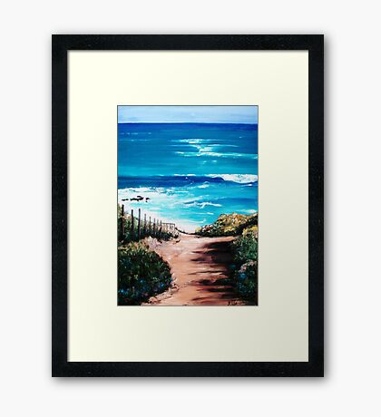 Mornington Peninsula Beach Framed Print