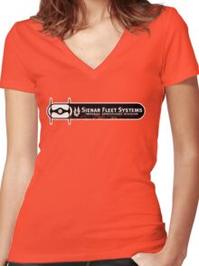 Corporate Pride (Distressed) Women's Fitted V-Neck T-Shirt