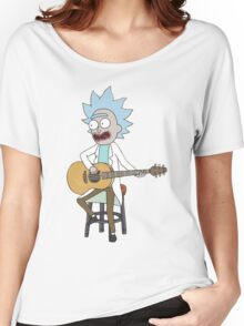 Rick and Morty-- Tiny Rick Guitar Women's Relaxed Fit T-Shirt