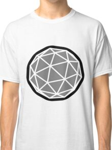 Round sphere design with triangles Classic T-Shirt