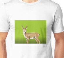 Deer with green Background Unisex T-Shirt