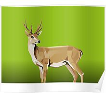 Deer with green Background Poster