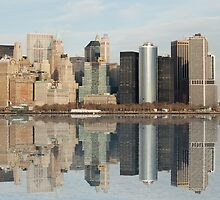 Manhattan and the Hudson River by Thomas Stroehle