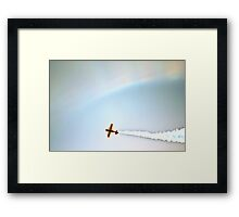 Racing through the Rainbows Framed Print