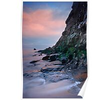 Saltwick Cliff by evening light Poster