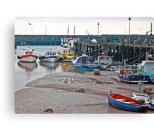 Awaiting The Evening Tide. Canvas Print