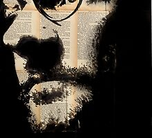 self portrait on book pages by Loui  Jover