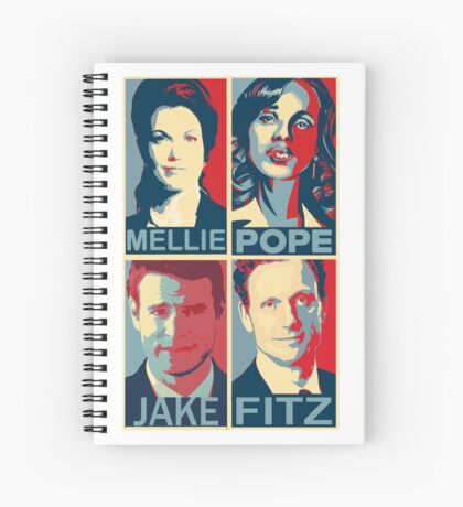 "Scandal - ""The sun went down a long time ago and it's not coming back up"" - Olivia Pope *Journals and Notebooks added* Spiral Notebook"