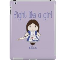 Fight Like a Girl - Mad Girl iPad Case/Skin