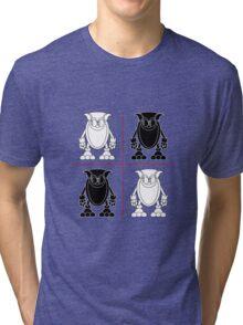 Black & White Tri-blend T-Shirt