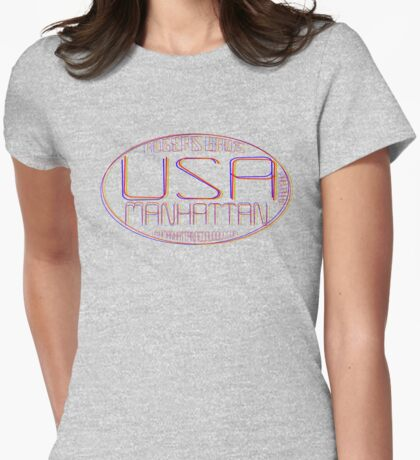 usa manhattan by rogers bros Womens Fitted T-Shirt