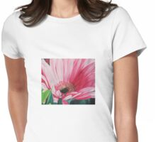 Big Pink Daisy  Womens Fitted T-Shirt