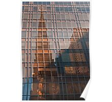 st. patrick's cathedral reflection Poster
