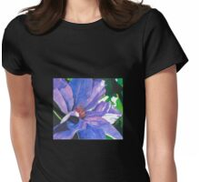 Big Blue Clematis Womens Fitted T-Shirt