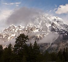 Grand Tetons and Clouds by Dawn Crouse