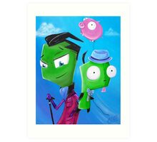 Zim and Gir Art Print