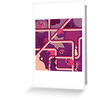 Purple Pattern Design Greeting Card