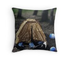 Rest in tent Throw Pillow