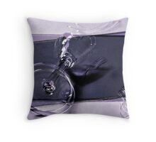 Breaking glass Throw Pillow