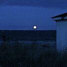 Perigee Moon At Third Beach - Newport - Rhode Island by Jack McCabe