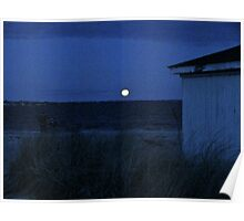 Perigee Moon At Third Beach - Newport - Rhode Island Poster