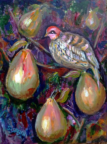 Partridge in a pear tree by Saga Sabin
